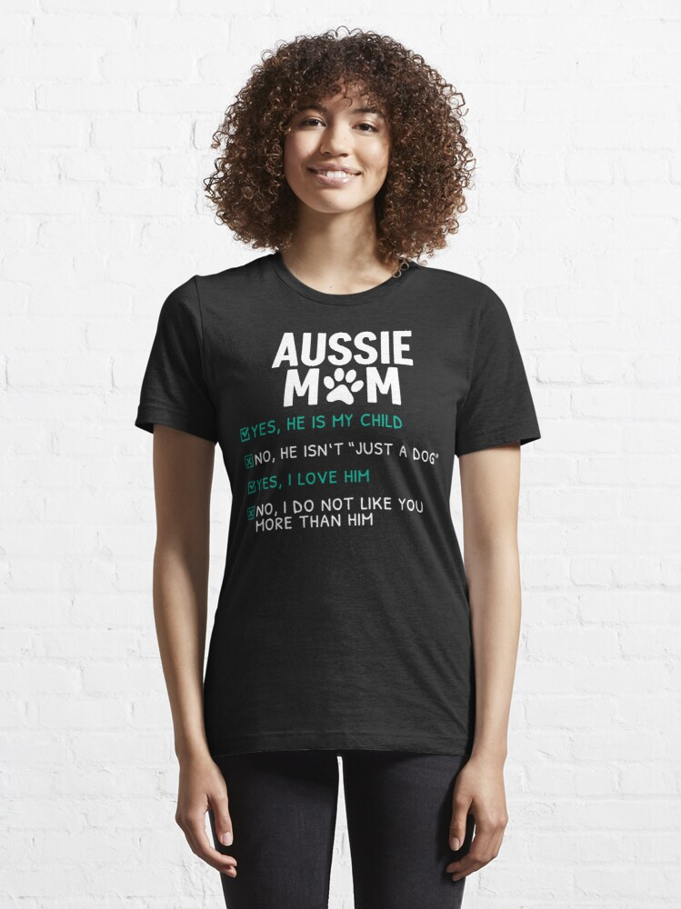 Alternate view of Funny Aussie Mom Essential T-Shirt