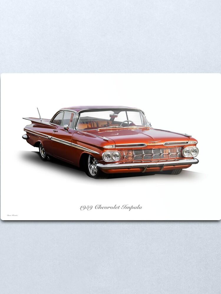 Alternate view of 1959 Chevrolet Custom Impala Metal Print
