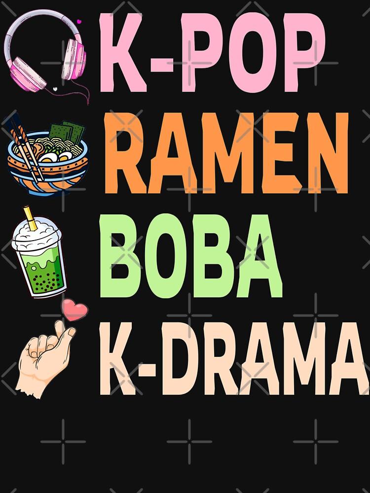 K-pop Ramen Boba And K-drama Cute Gift by Abidilana