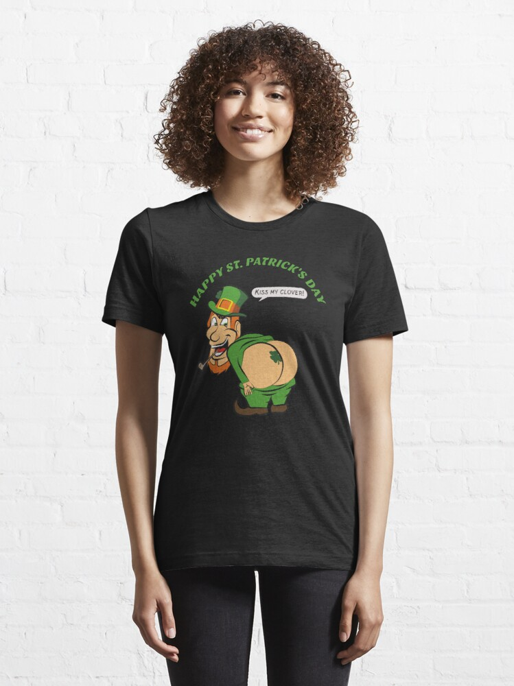 Alternate view of St Patricks Day - Kiss My Clover - Cute Funny Essential T-Shirt