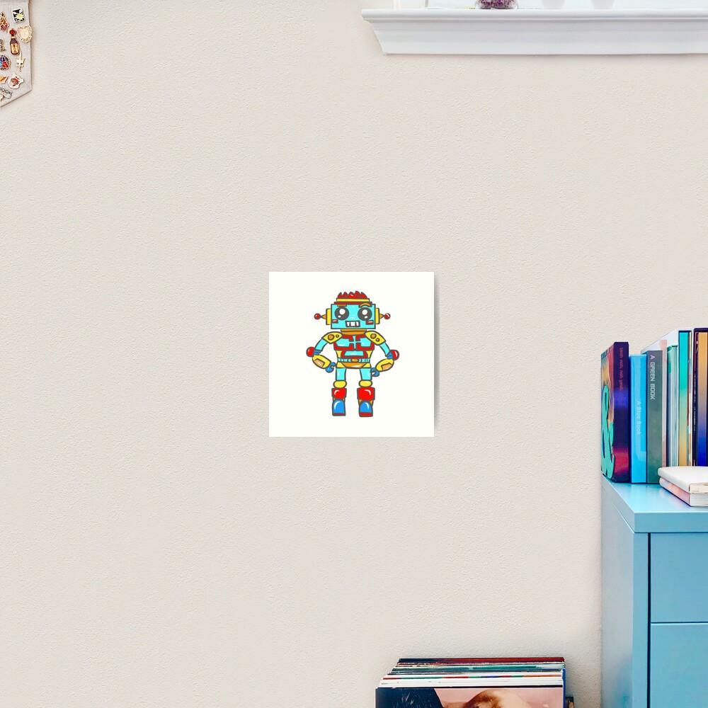 Robot Boy Art Print