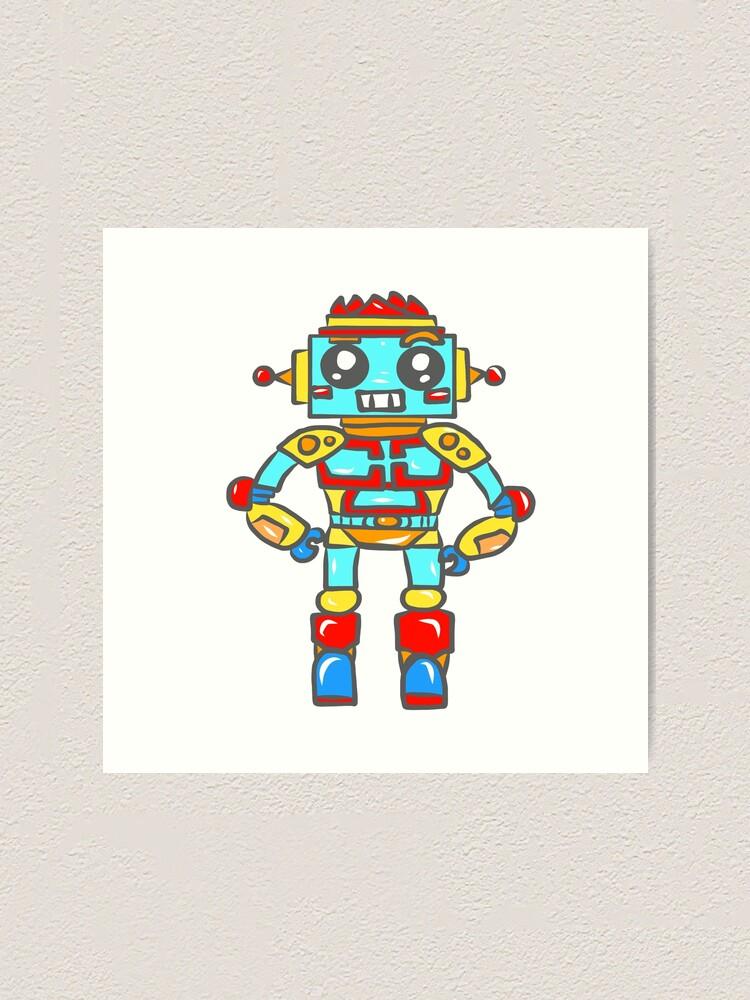 Alternate view of Robot Boy Art Print