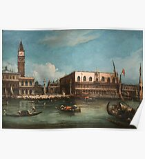 Vintage famous art - Canaletto Antonio - Palazzo Ducale  Poster