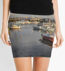 Titchfield Haven, England at late afternoon Mini Skirt