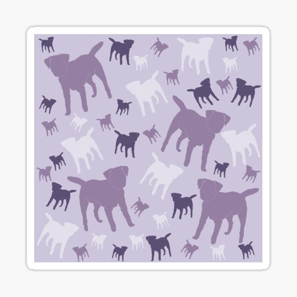 Border Terriers Gifts for Dog Lovers Shades of Lilac Silhouette Sticker