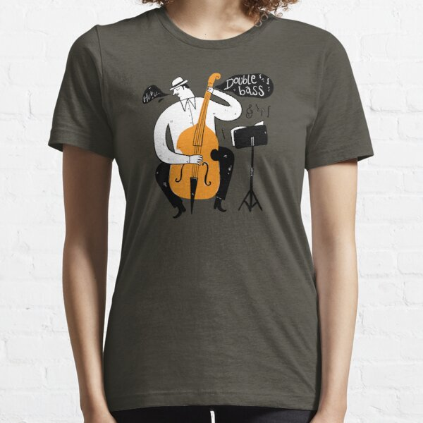 Musicians play jazz with Double bass. Essential T-Shirt