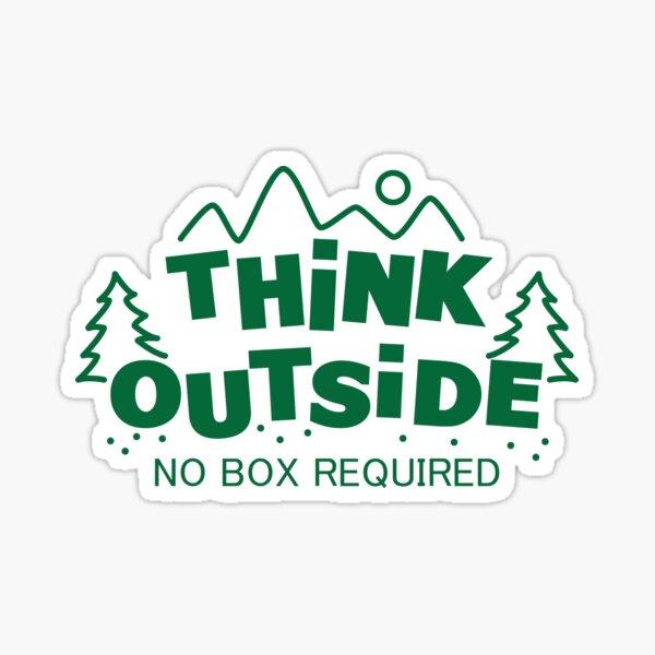 Piensa en el exterior, no se requiere caja Pegatina