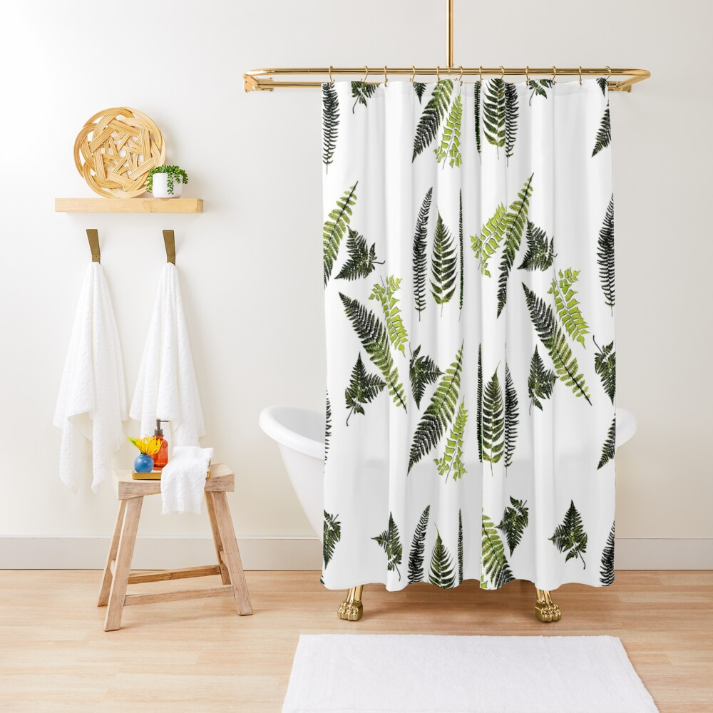 Fronds of ferns Shower Curtain