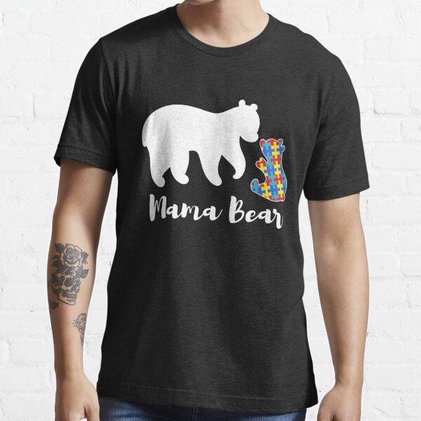 Autism Awareness Cute Holiday Gift Top Mama Bear Baby Bear Hoodie