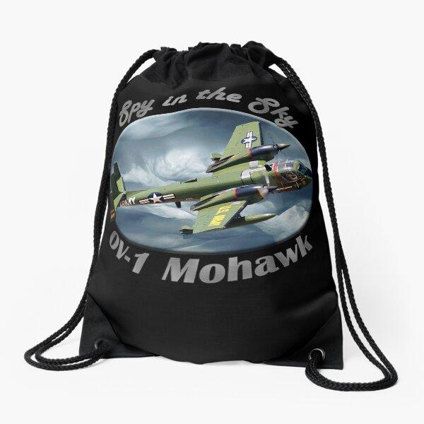 OV-1 Mohawk Spy In The Sky Drawstring Bag