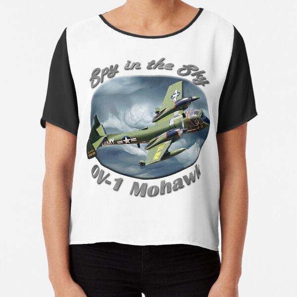 OV-1 Mohawk Spy In The Sky Chiffon Top