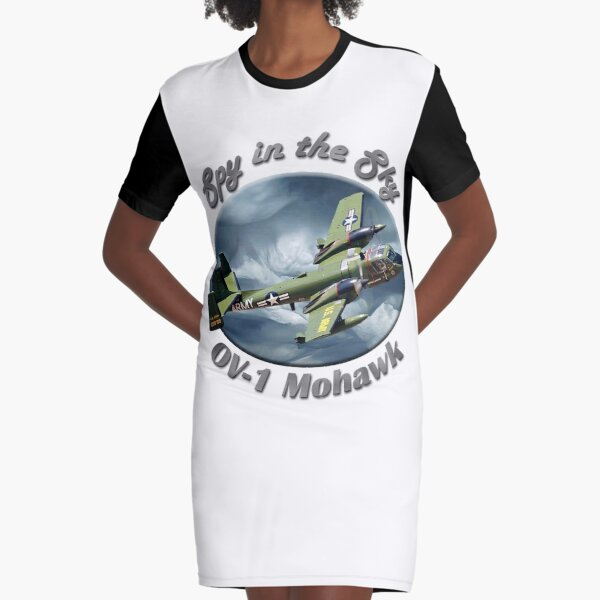 OV-1 Mohawk Spy In The Sky Graphic T-Shirt Dress
