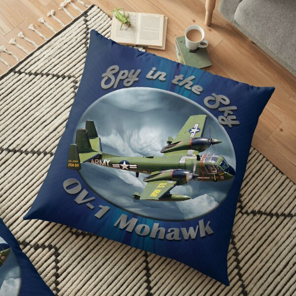 OV-1 Mohawk Spy In The Sky Floor Pillow