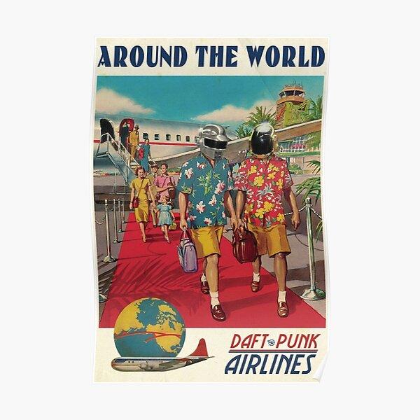 Daft Around The World Poster