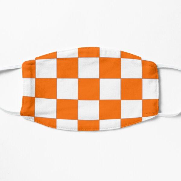 Orange  and White Checkerboard Design Flat Mask