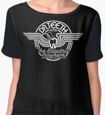 Dr.Teeth and the Electric Mayhem - MonoChrome Logo Design Chiffon Top