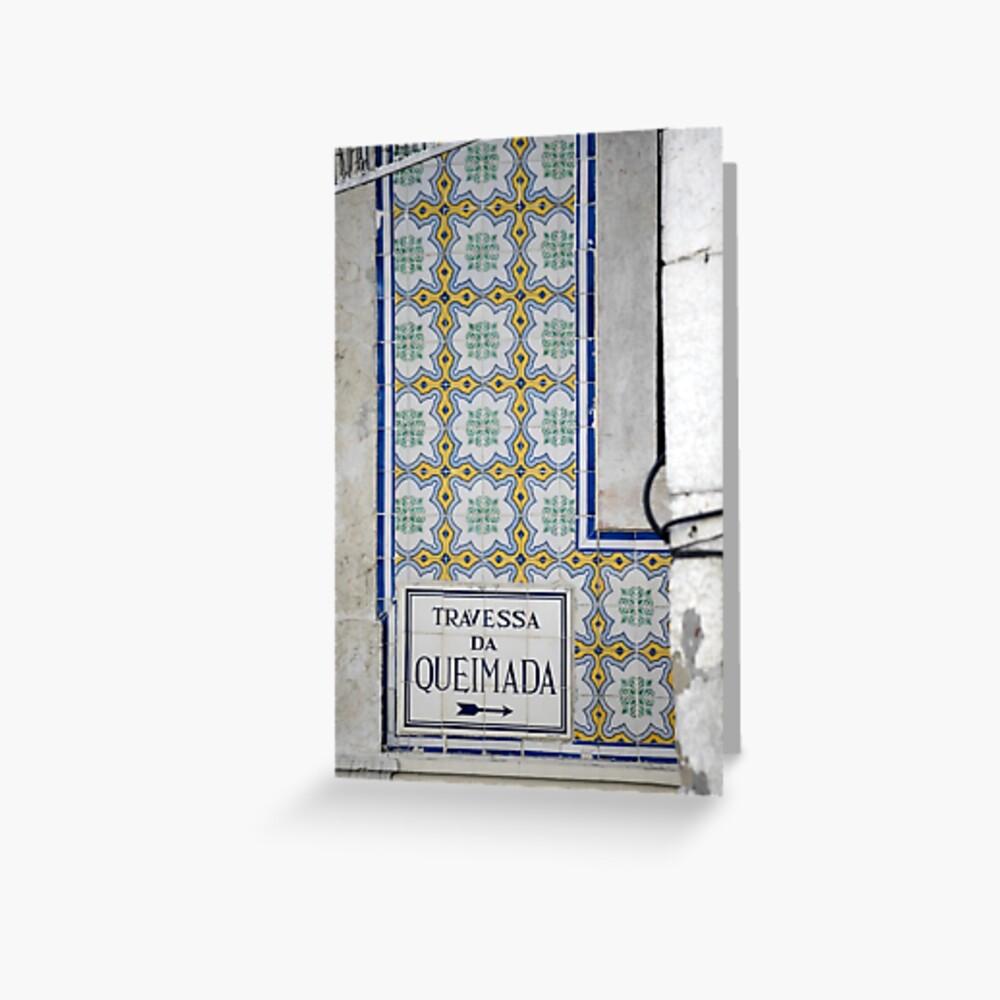 Travessa da Queimada – Lisbon Greeting Card