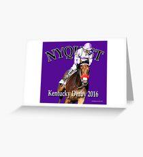 Nyquist Kentucky Derby Winner Greeting Card