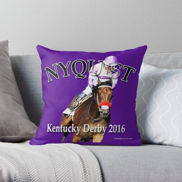 Nyquist Kentucky Derby Winner Throw Pillow