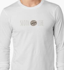 Sloth Life - Happy Lazy Sloth Face Long Sleeve T-Shirt