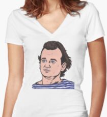 What About Bob? Women's Fitted V-Neck T-Shirt