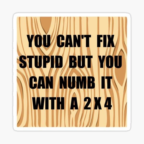 Numb Stupid Sticker