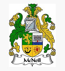 McNeill Coat of Arms / McNeill Family Crest Photographic Print