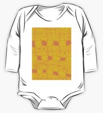 Geometric in Yellow and Orange One Piece - Long Sleeve