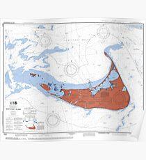 Nantucket Maine Map Art Poster
