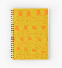 Geometric Art Hardcover Journal in Yellow and Orange Spiral Notebook