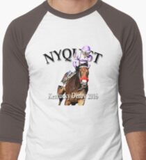 Nyquist Kentucky Derby Winner Men's Baseball ¾ T-Shirt
