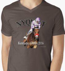 Nyquist Kentucky Derby Winner Men's V-Neck T-Shirt