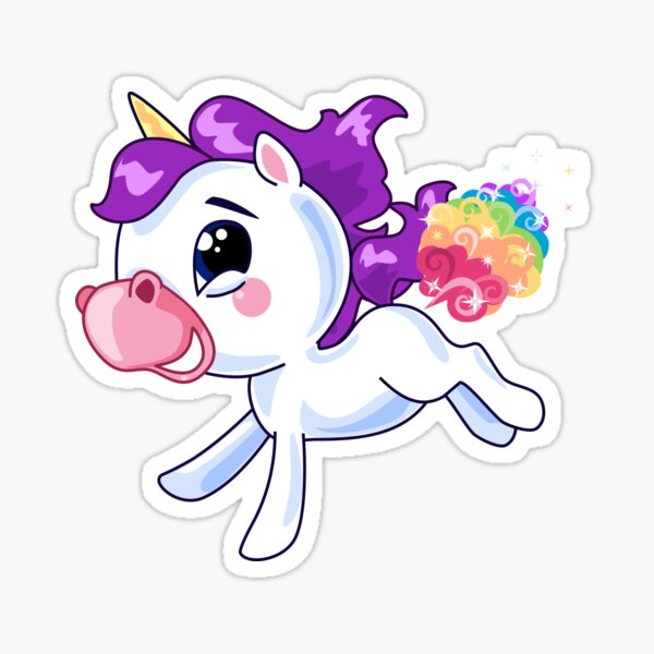 powered by unicorn farts sticker