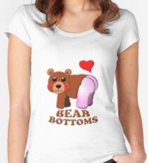 love bear bottoms Women's Fitted Scoop T-Shirt