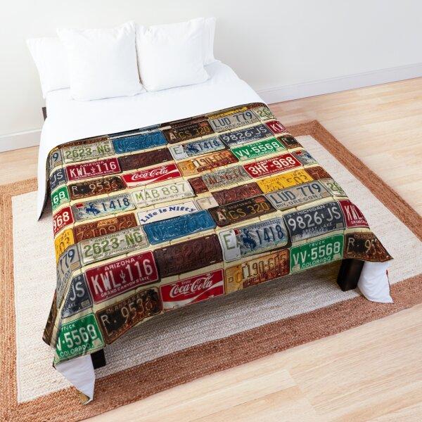 USA License Plate Collection Comforter