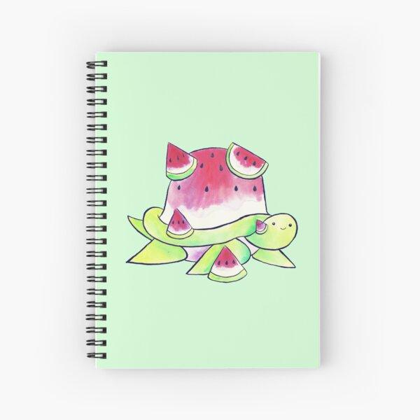 Watermelon Turtle Watercolor Spiral Notebook