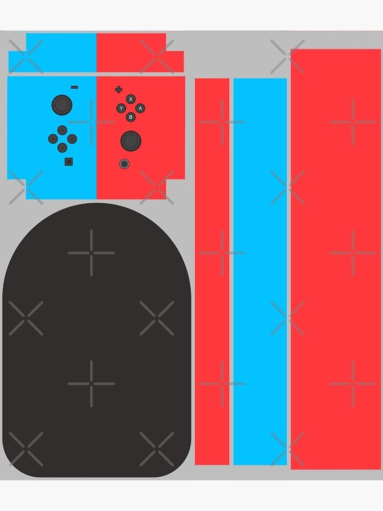 Nintendo Switch Red Blue Controller Gamer Gaming Inspired Design by strangebird2014
