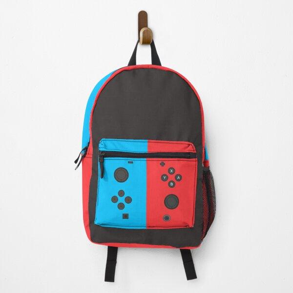 Nintendo Switch Red Blue Controller Gamer Gaming Inspired Design Backpack