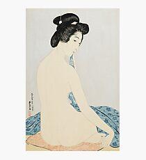 Vintage famous art - Hashiguchi Goyo - Woman After The Bath Photographic Print