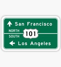 San Francisco-Los Angeles-US Route 101, Road Sign, California Sticker
