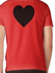 Black Heart, Love Heart, Heart, Treachery, Betrayal, Pure & Simple, on WHITE Mens V-Neck T-Shirt