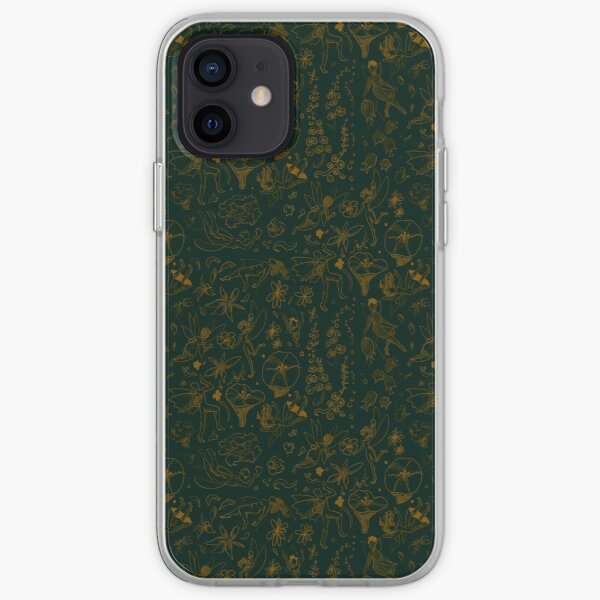 Pillywiggins in Green and Gold iPhone Soft Case