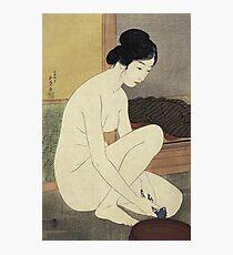 Vintage famous art - Hashiguchi Goyo - Woman Bathing 1915 Photographic Print