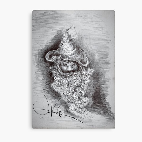 """Wizard Face """"Lookin' at you?, Or Lookin' For You?"""" Metal Print"""