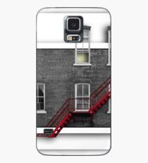 fire in the grey Case/Skin for Samsung Galaxy
