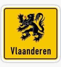 Flanders Road Sign, Belgium Sticker