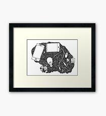 Wired brain Framed Print