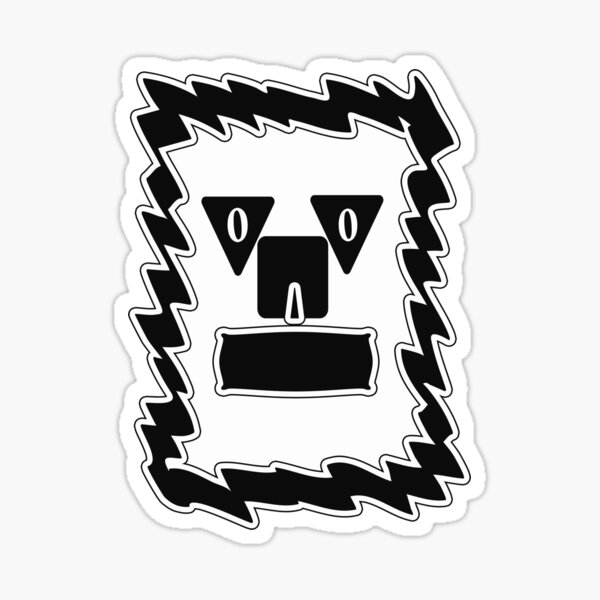 Grumpy Face Dog Sticker
