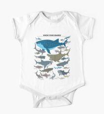 Kenne deine Haie Baby Body Kurzarm