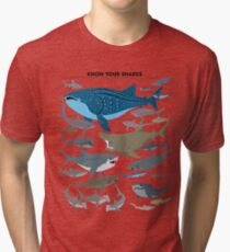 Know Your Sharks Tri-blend T-Shirt